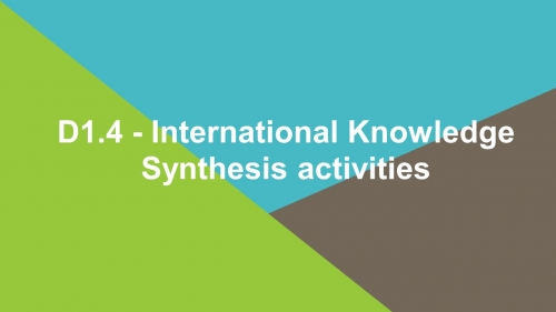D1.4 International Knowledge Synthesis activities
